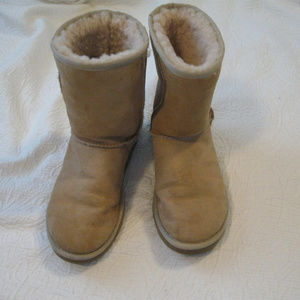 UGG TAN REAL SUEDE WINTER BOOTS 7*FREESHIP